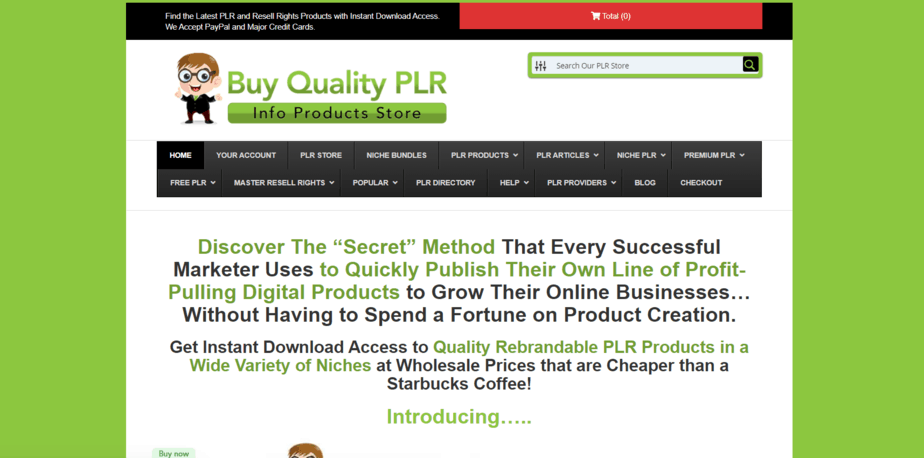 BuyQualityPLR.com PLR Store