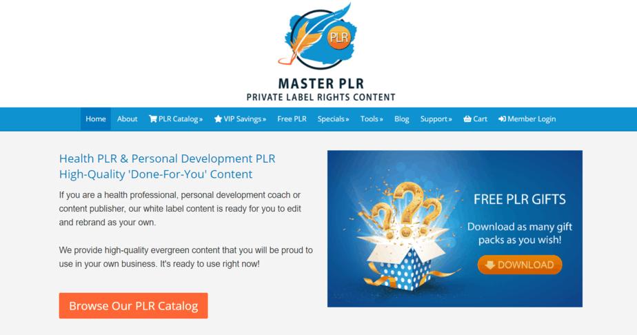 MasterPLR.com PLR Store