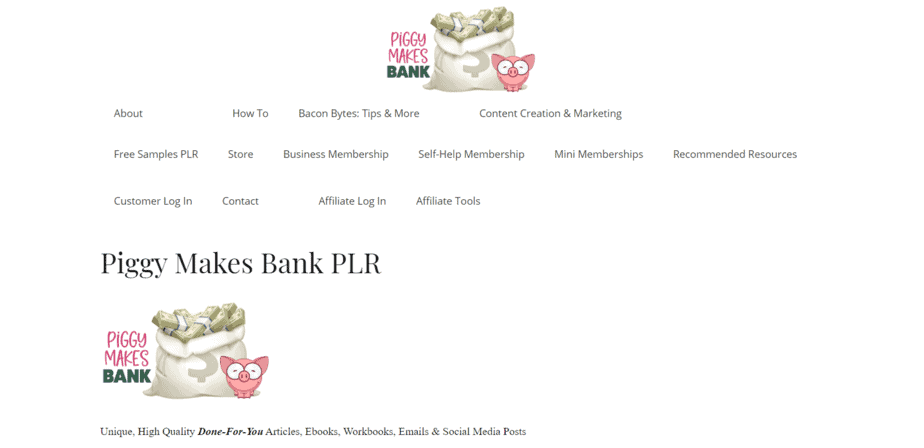 PiggyMakesBank.com PLR Store