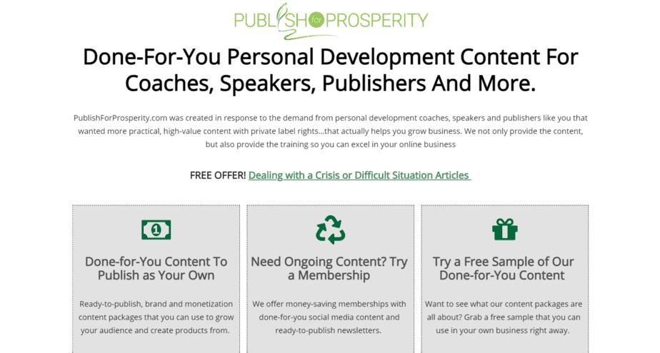 PublishForProsperity.com PLR Store