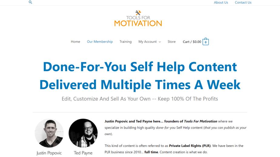 ToolsForMotivation.com PLR Store