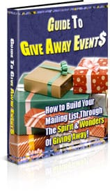 Guide to Give Away Events With PLR