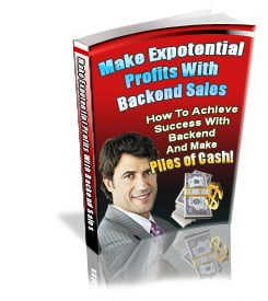 Make Exponential Profits with Backend Sales with PLR