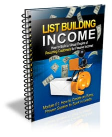 List Building Income with Master Resell Rights