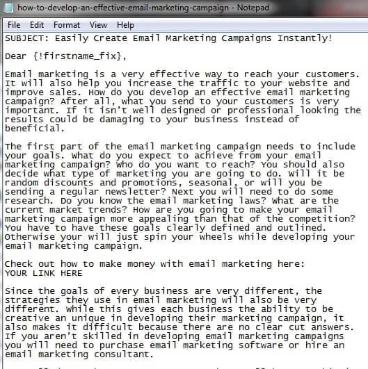 300 Affiliate Marketing Autoresponder Series Emails PLR