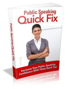 Public Speaking Quick Fix Master resell rights eBook