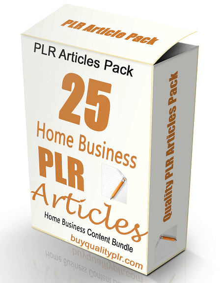 25 Home Business PLR Articles Pack Volume 1