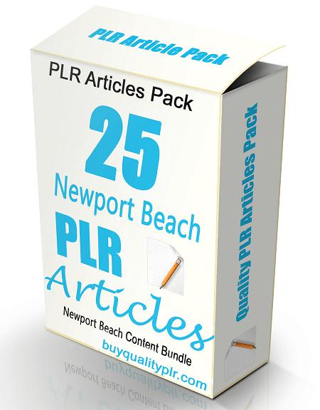 25 Newport Beach PLR Articles