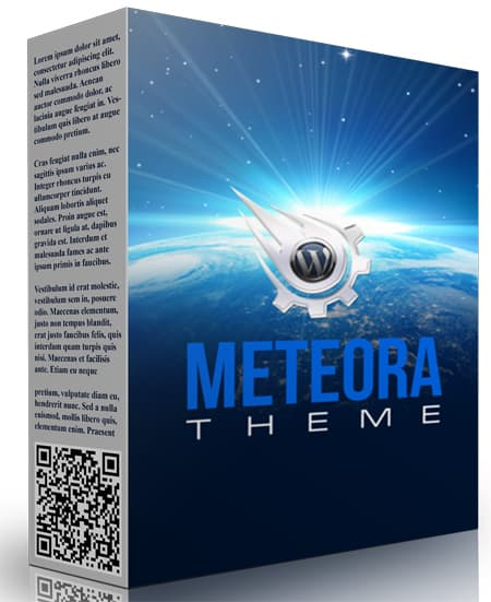 Meteora WordPress Theme with Master Resell Rights