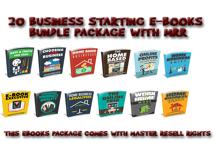 Home Business Ebooks Bundle With Master Resell Rights