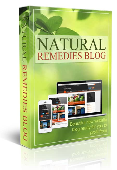 Natural Remedies PLR Niche Blog
