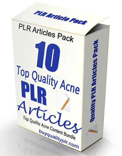 10 Top Quality Acne PLR Articles