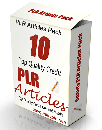 10 Top Quality Credit PLR Articles