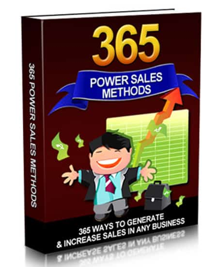 365 Power Sales Methods Ebook With Master Resell Rights