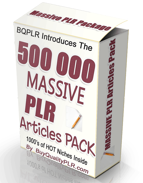 BQPLR 500 000 MASSIVE PLR Articles Pack