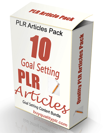 High Quality Goal Setting Articles with Private Label Rights