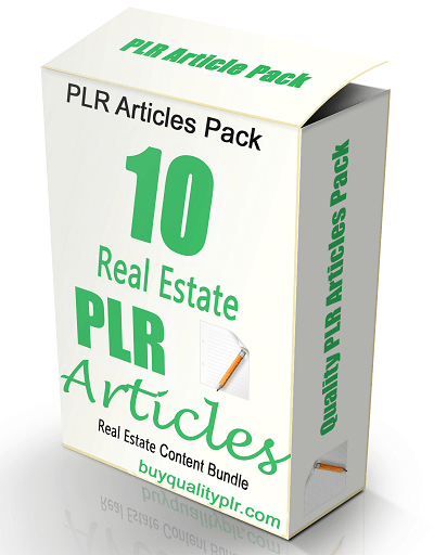 High Quality Real Estate Articles PLR