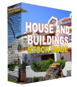 Homes and Buildings Stock Images with Basic Resell Rights