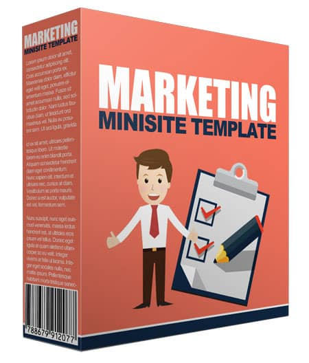 Marketing Minisite PLR Template 2016