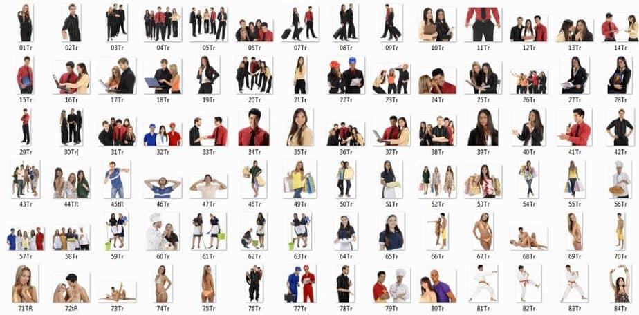 Transparent People Stock Photos PLR