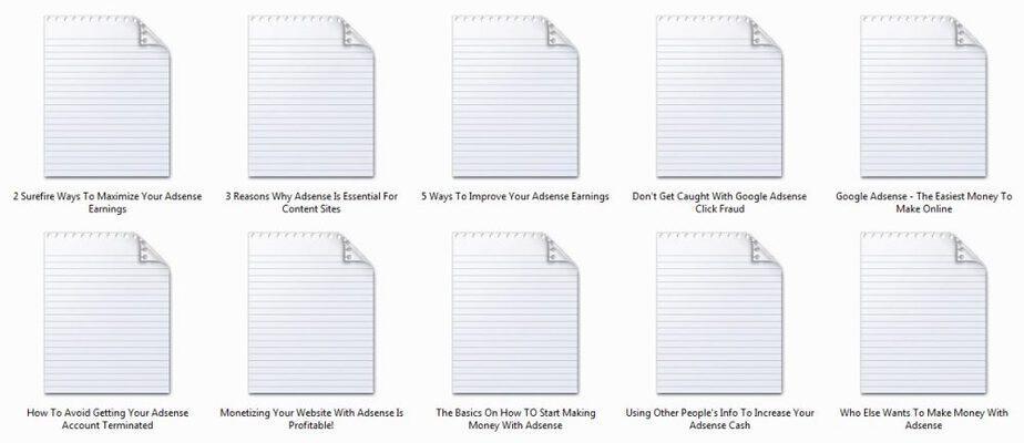 10 Google Adsense PLR Autoresponder Emails