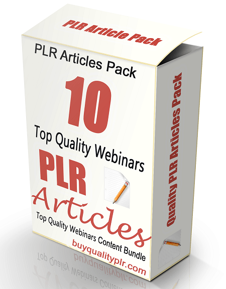 10 Top Quality Webinars PLR Articles and Tweets Pack