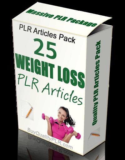 25 Weight Loss PLR Articles