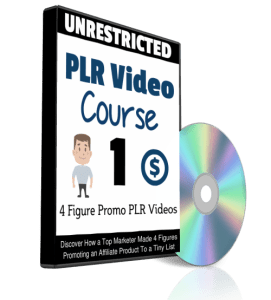 4 Figure Promo Unrestricted PLR Video Course