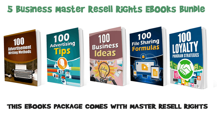 Master Resale Rights and Master Resell Rights Products