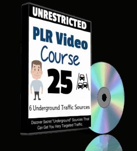 6 Underground Traffic Sources PLR Video Course