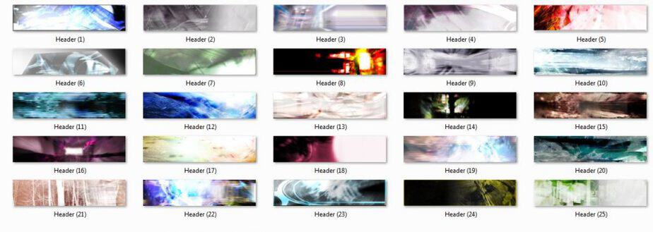 Abstract Headers Pack Preview