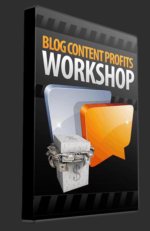 Blog Content Profits Coaching Workshop List Building Package License