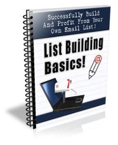 List Building PLR Newsletter eCourse