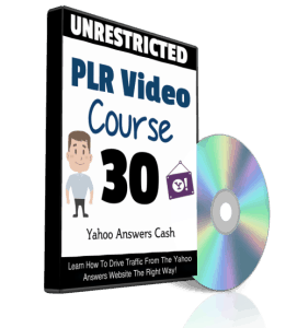 Yahoo Answers Cash Unrestricted PLR Videos