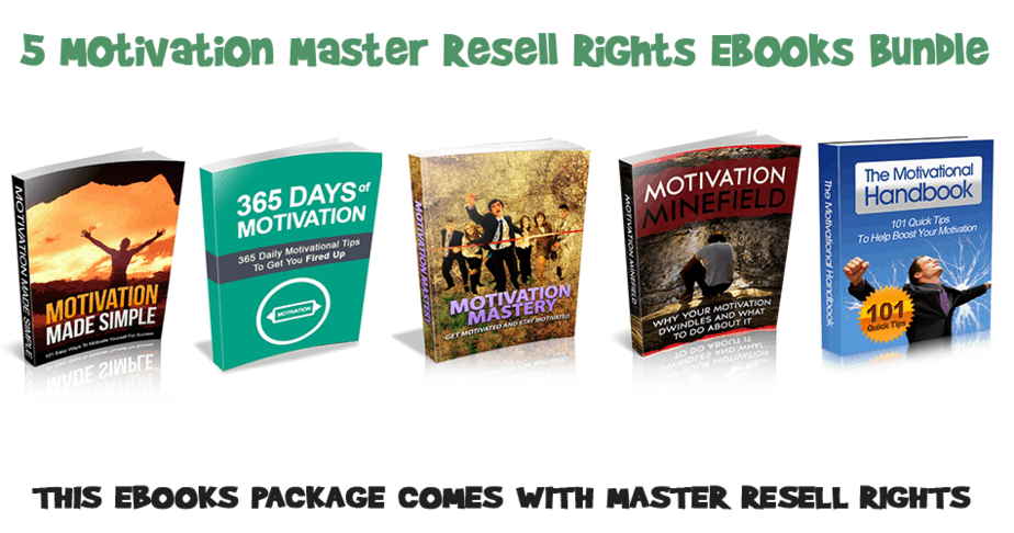 5 Motivation Master Resell Rights Ebooks Bundle