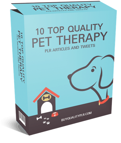 10 Top Quality PLR Pet Therapy PLR Articles And Tweets