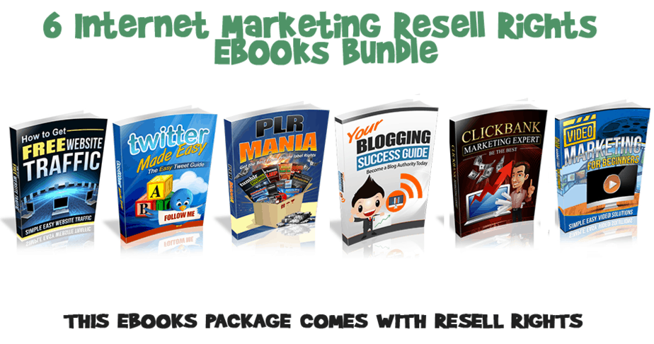 6 Internet Marketing Ebooks with Resell Rights