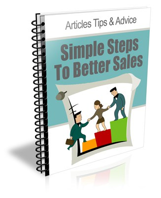 Simple Steps To Better Sales PLR Newsletter eCourse