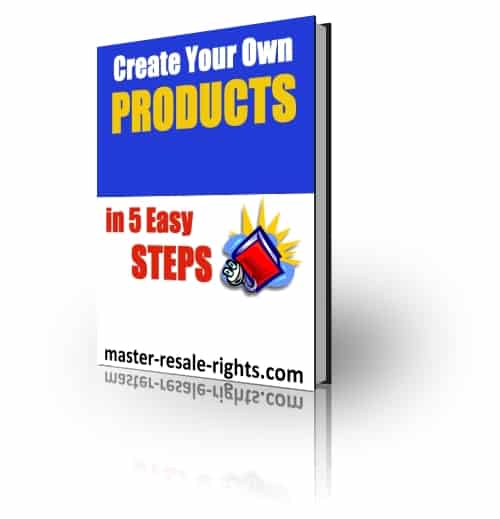 Create Your Own Product in 5 Easy Steps PLR Ebook