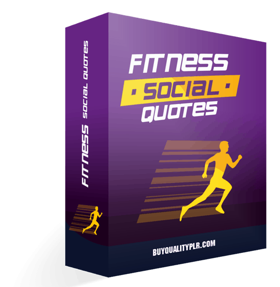 Fitness Social Quotes Articles Pack MRR Graphics