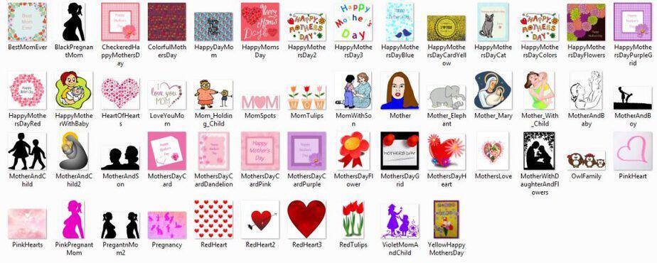 Mothersday PLR Clipart Screenshot Preview