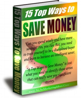 15 Top Ways to Save Money PLR Ebook