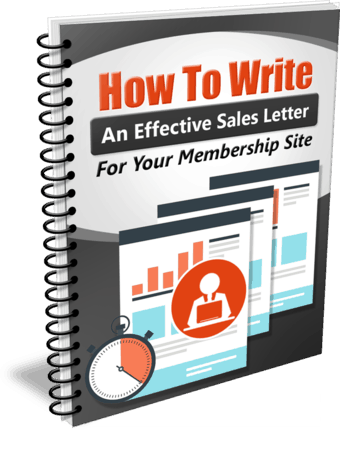 How To Write An Effective Sales Letter For Your Membership Site Plr