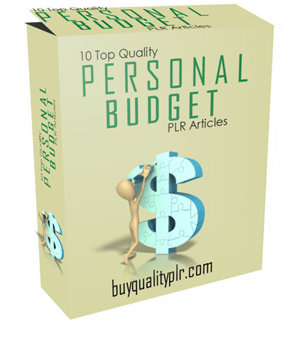 10 Top Quality Personal Budgets PLR Articles