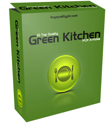 10 Top Quality Green Kitchens PLR Articles