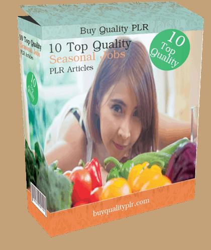 10 Top Quality Seasonal Jobs PLR Articles