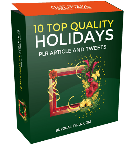 10 Top Quality Holidays PLR Articles and Tweets