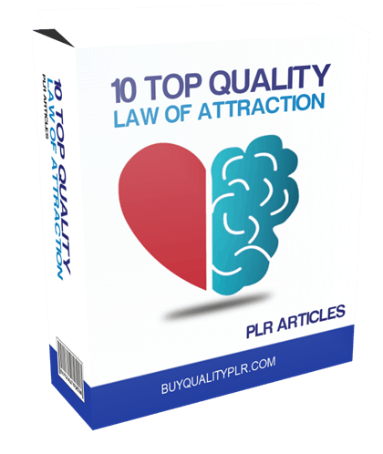 10 TOP QUALITY LAW OF ATTRACTION PLR ARTICLES