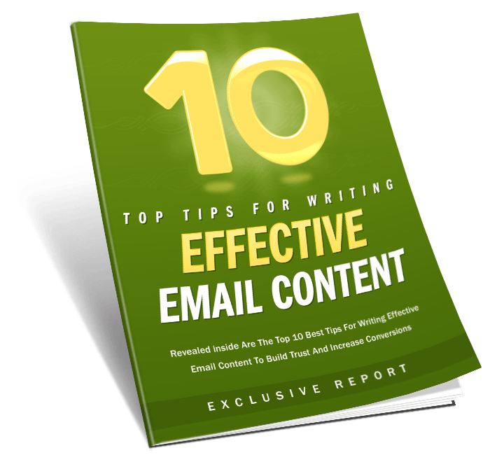 10 Tips For Effective Email Content MRR Lead Magnet Package
