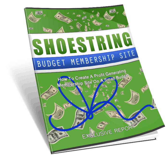 Shoestring budget membership sites mega pack master resell rights